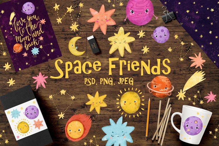 Space clip art/ Solar sistem kid example image 1