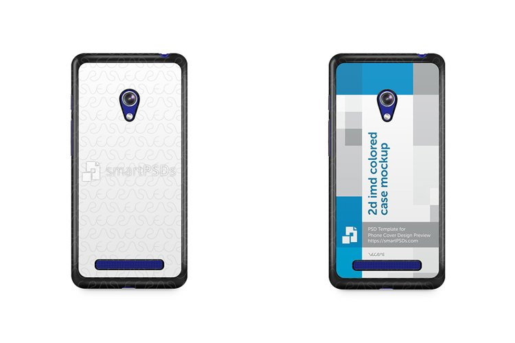 ASUS Zenfone 5 2d IMD Colored Mobile Case Mockup 2014 example image 1