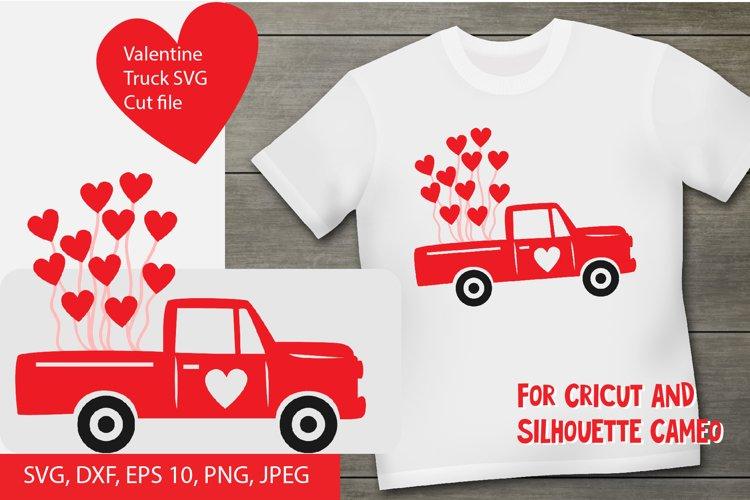 Valentine truck SVG cut file