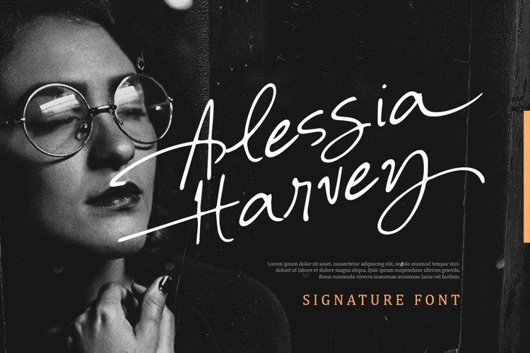 Alessia Harvey - Signature Font example image 1