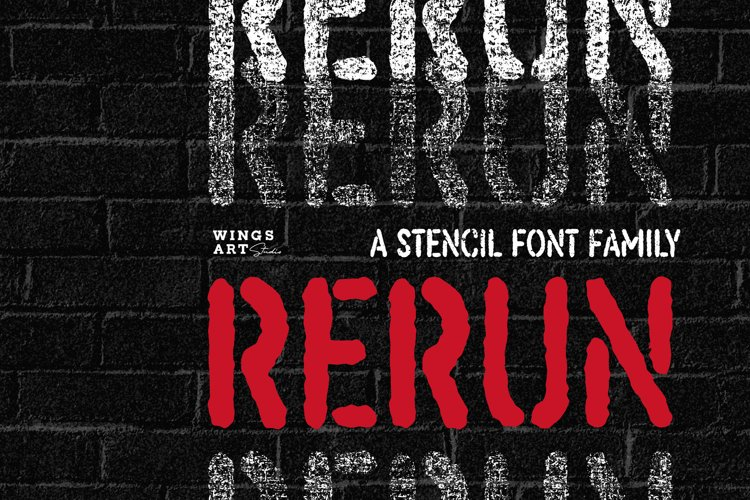 ReRun A Stencil Font Family