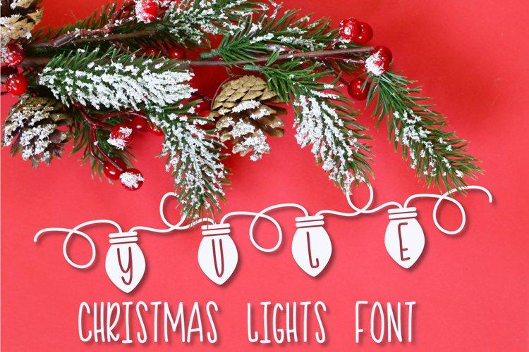 YULE - Christmas Lights Font  example image 1