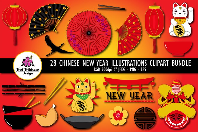 chinese new year clipart chinese new year graphics bundle 381921 illustrations design bundles design bundles