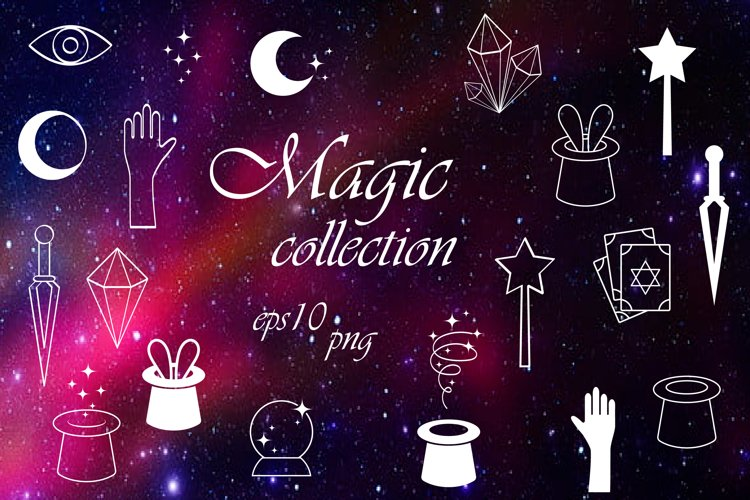 Magic mystical Collection. Digital icons