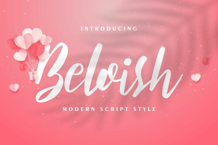 Beloish | Modern Script Style example image 1
