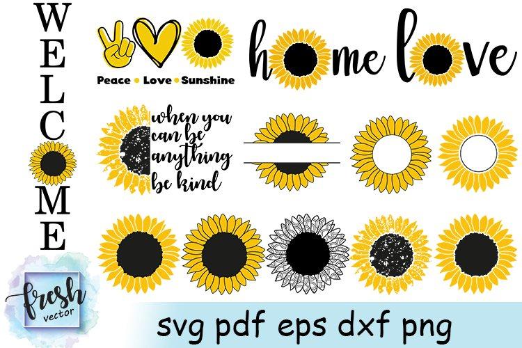 Sunflower SVG Bundle Sunflower Quote Sunflower Monogram Svg