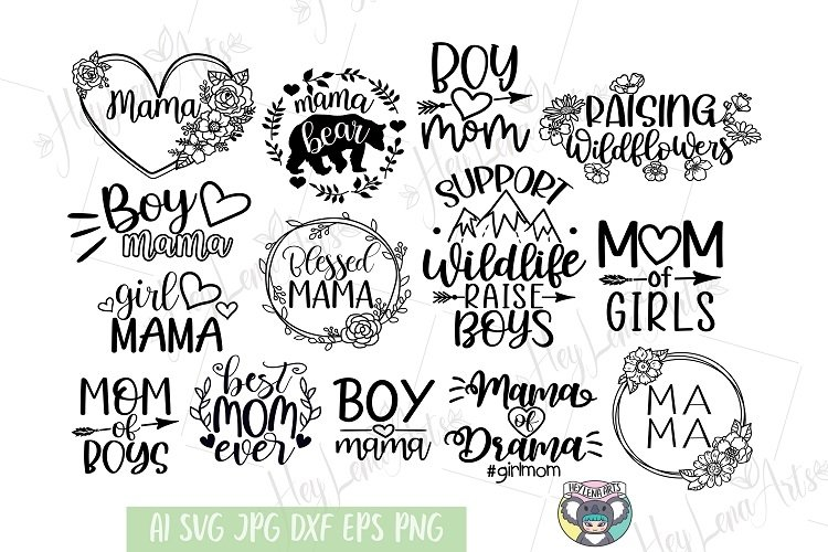 Mama of Drama svg, Girl Mom svg, Mother's Day, Cricut File example image 1
