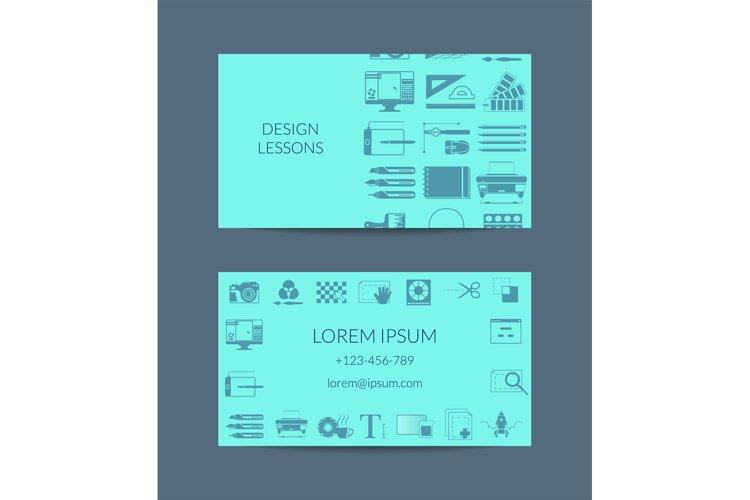 Vector digital art design studion or lessons business card t example image 1