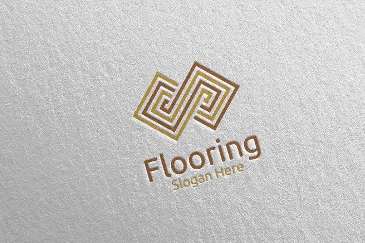 Flooring Parquet Wooden Logo 2 example image 1