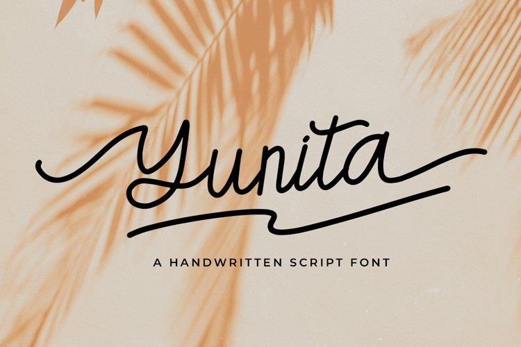 Yunita a Handwritten Script Font example image 1