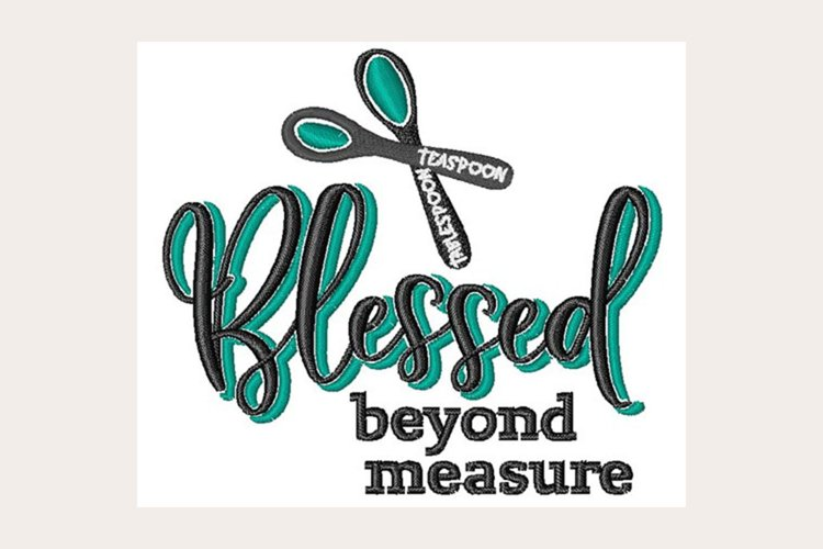 Blessed Beyond Measure - Machine Embroidery Design example image 1