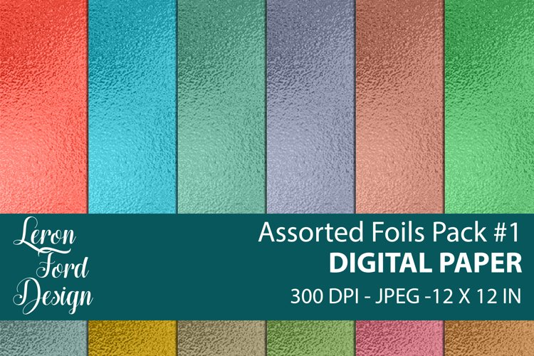Assorted Foil Textures Pack #1 Digital Paper example image 1
