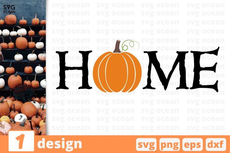 Home sign SVG Cut file  Fall cricut   Autumn quote example image 1
