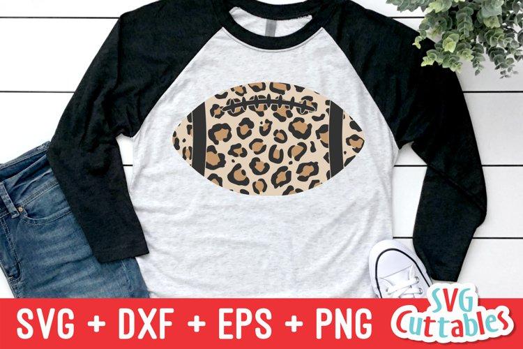 Football SVG   Leopard Print Football   Shirt Design