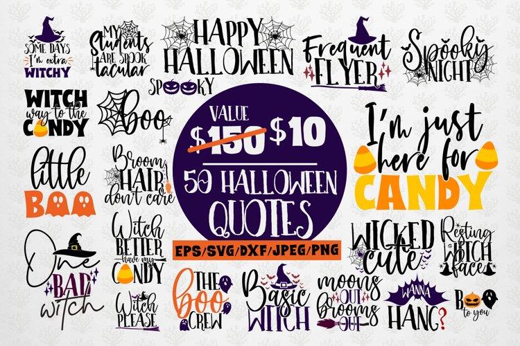 Mega Halloween SVG Bundle - 50 Designs Cut Files example image 1