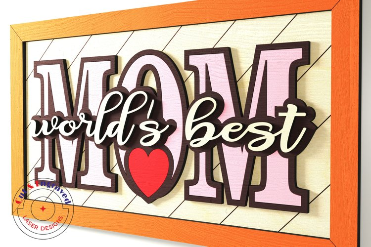 Mother's day wall frame, nursery decor. Glowforge ready. example image 1