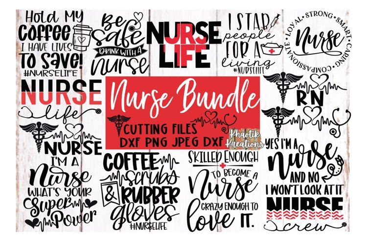 Nurse Bundle Svg, Nurse Svg, Funny Nurse Svg, Nurse Life Svg example image 1