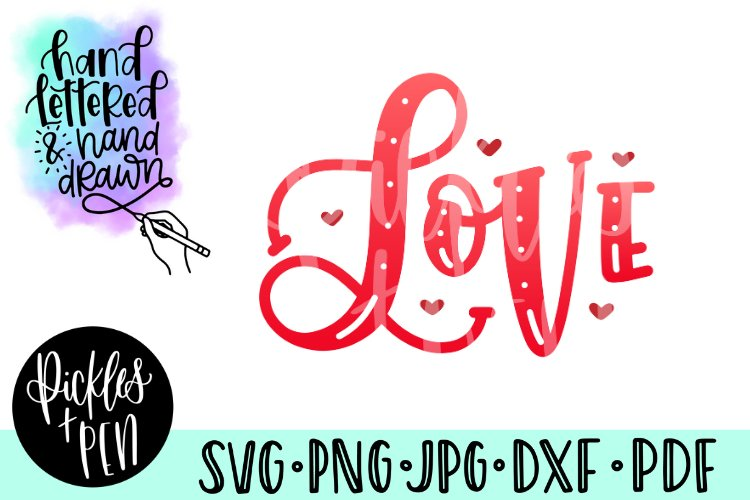 love svg - valentines clipart example image 1