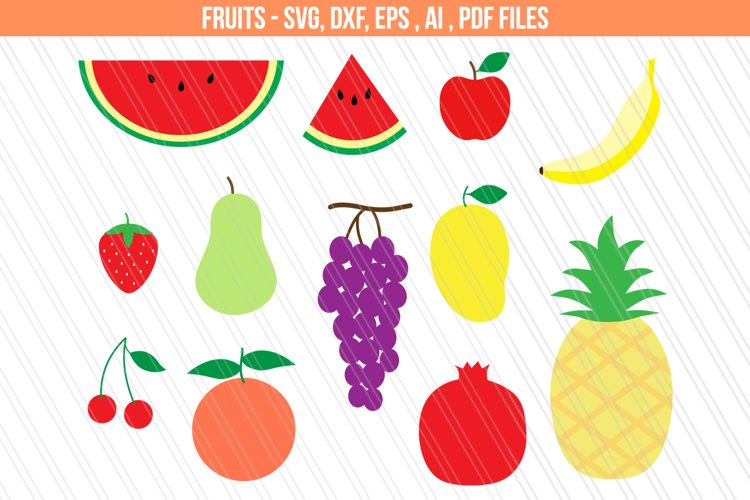 Fruits svg dxf cutting files example image 1