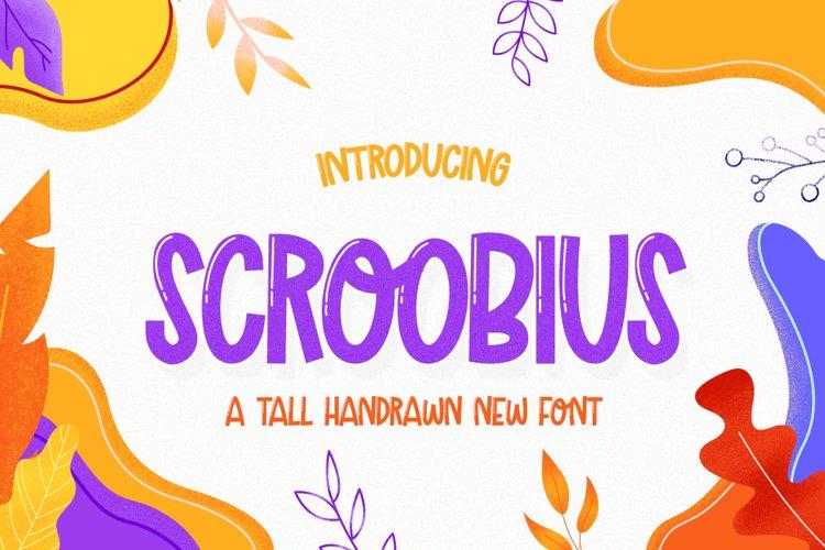 Scroobius Font example image 1