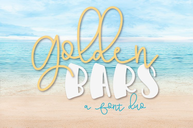 Golden Bars - A Font Pair example image 1