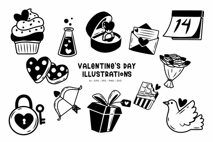 Valentines Day illustrations