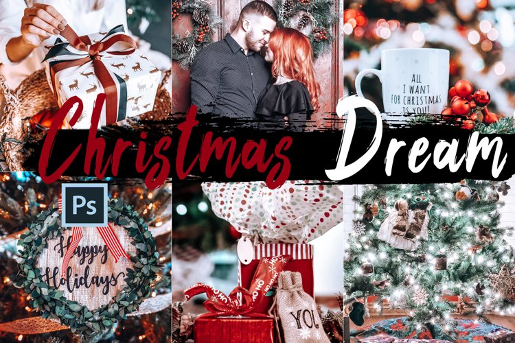 05 Christmas Dream Photoshop Actions, ACR and LUT presets example image 1