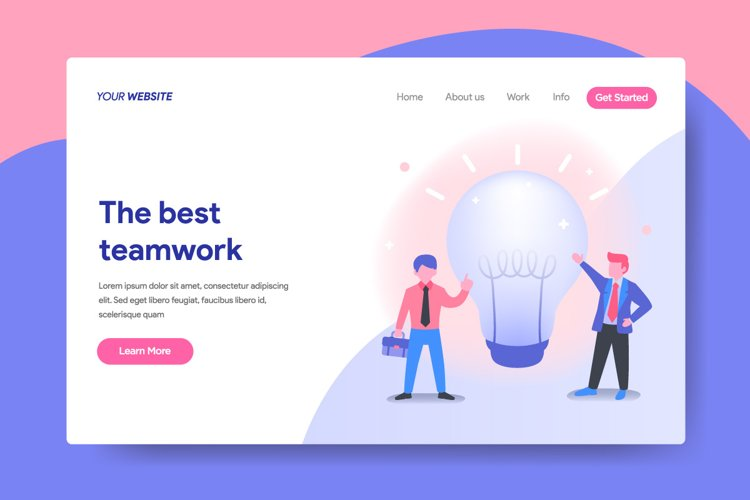 Landing page template of Business Idea Concept example image 1