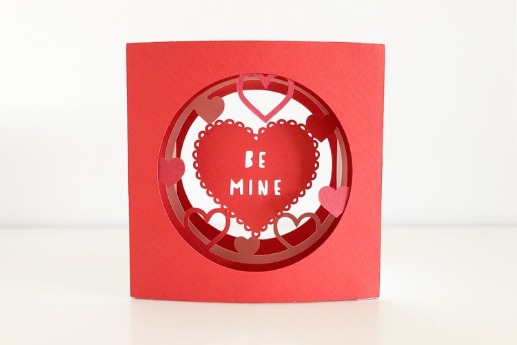 Valentines Day 3D Layered Tunnel Card, Cricut Joy Compatible