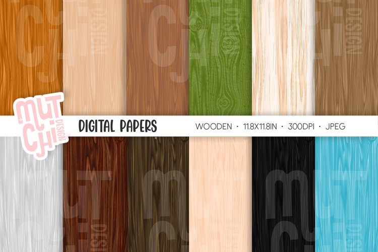 Wooden Digital Papers example image 1