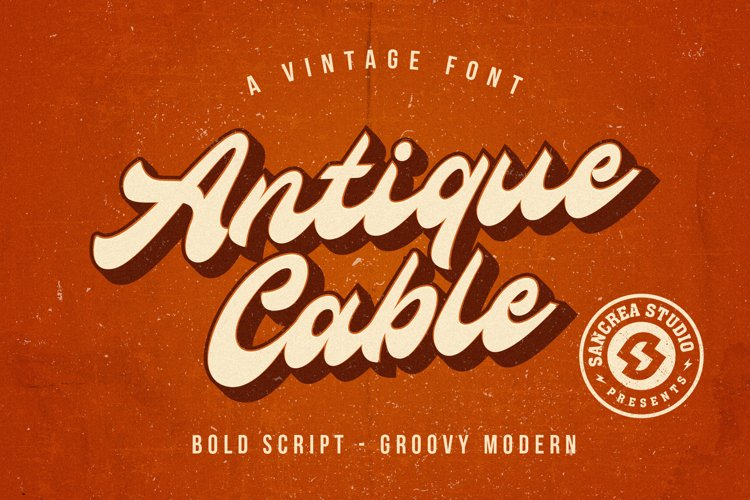 Antique Cable | Bold Script example image 1