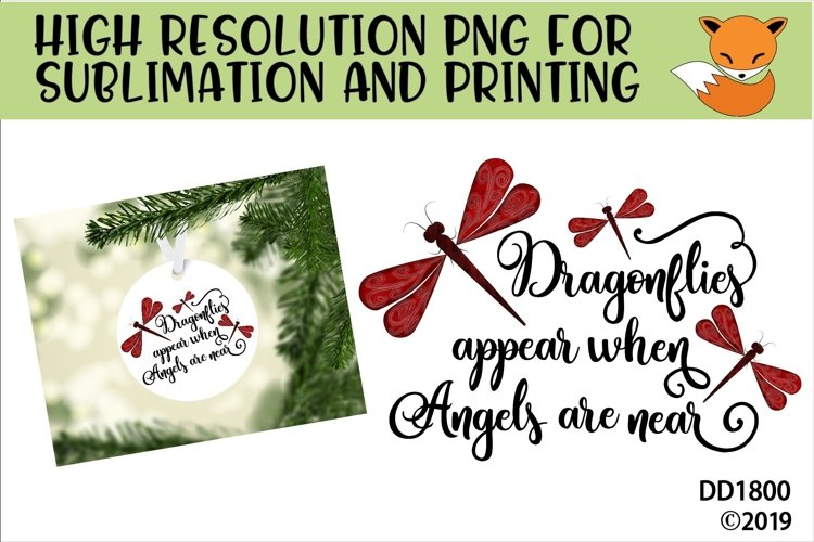 Memorial Dragonflies Appear When Angels Are Near Sublimation