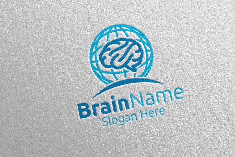 Global Brain Logo Design 24 example image 1