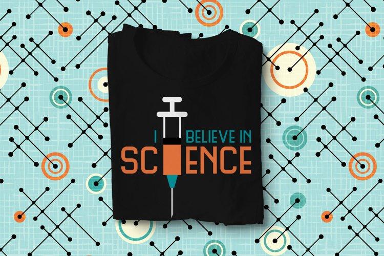 I Believe in Science Syringe SVG Design File example image 1