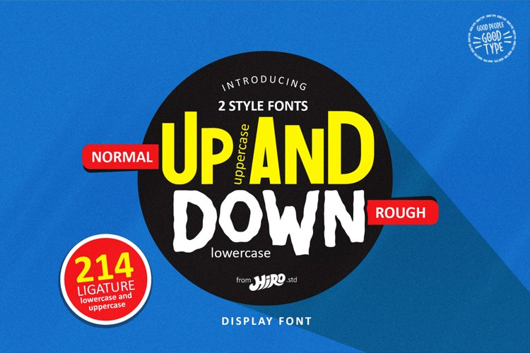 Up and Down - Display Font example image 1