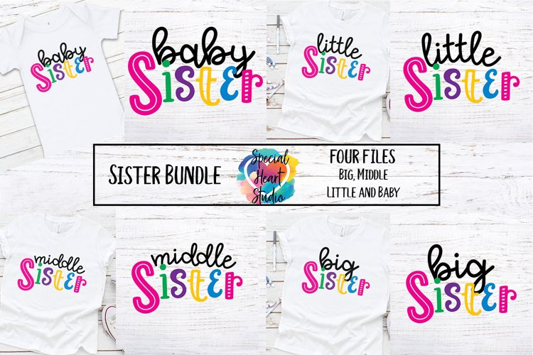 Sister Bundle - A set of sister sibling SVG designs example image 1