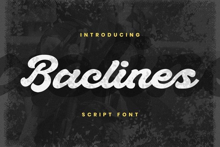 Web Font Baclines Font example image 1