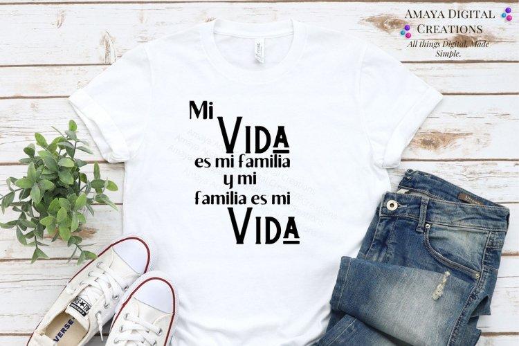 Mi Vida s Mi Familia Svg,Cute Spanish Quotes example image 1
