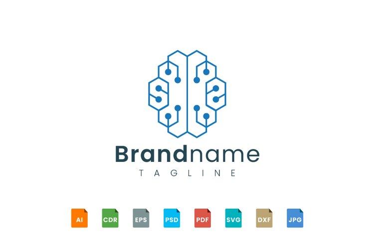 Brain logo template represent technology example image 1