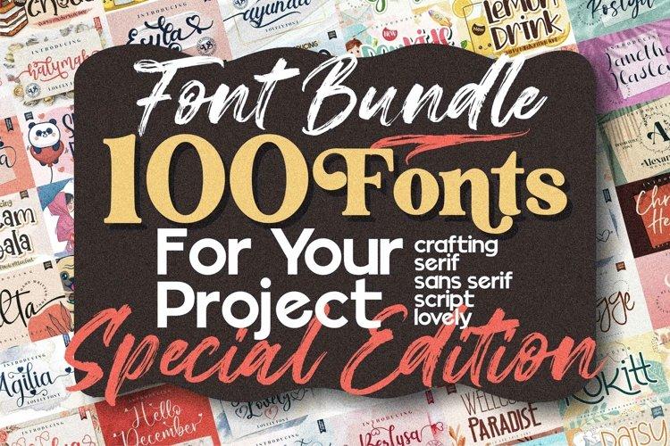 Best Seller - Mega Bundle 100 Fonts example image 1