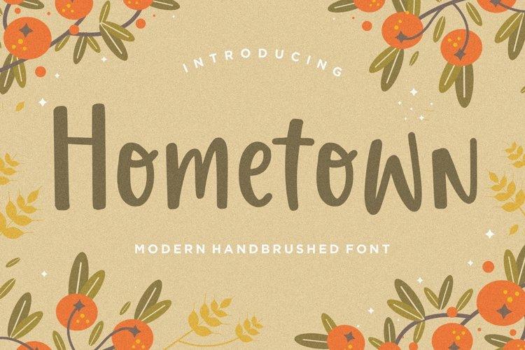Hometown Modern Handbrushed Font example image 1