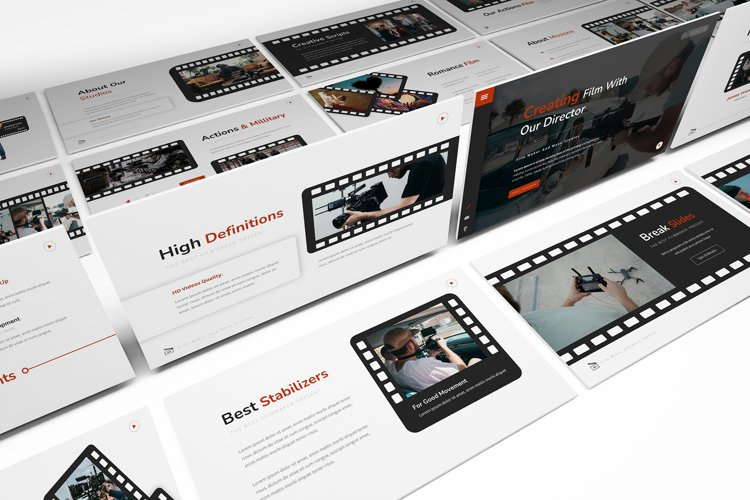 Move Studios Powerpoint Template example image 1