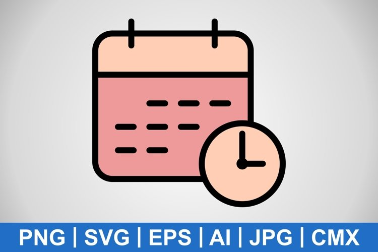 Vector Business Deadline Icon example image 1