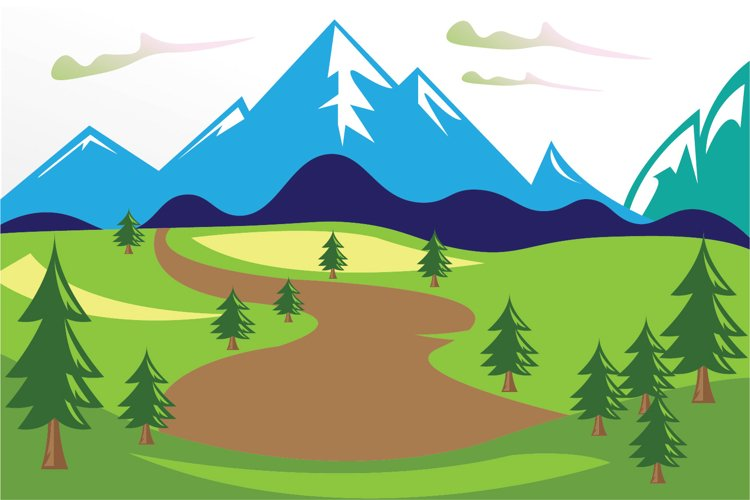 mountain landscape vector illustration example image 1