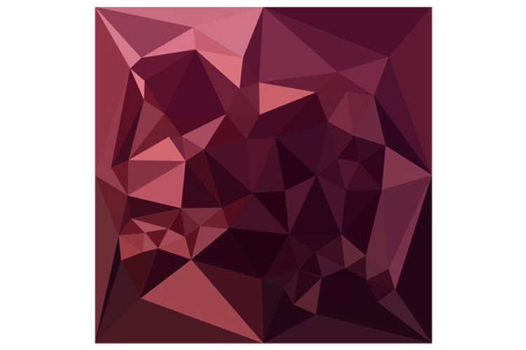 Dark Raspberry Red Abstract Low Polygon Background example image 1