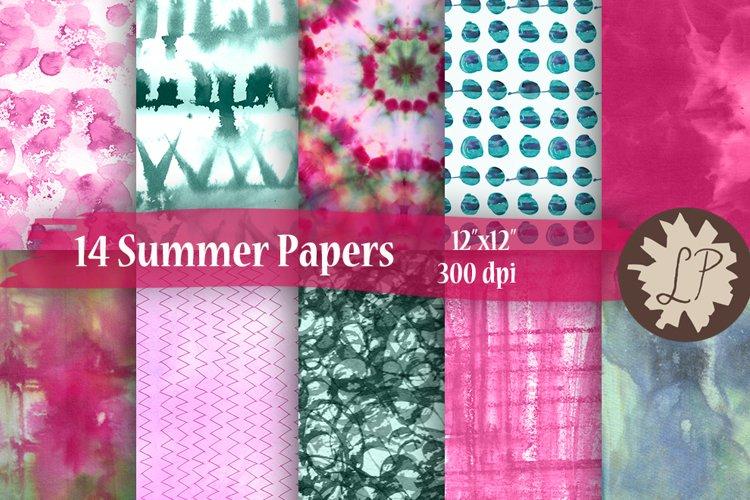 14 Floral Tie Dye Papers