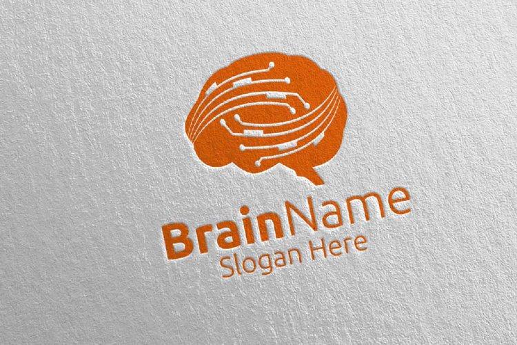 Brain Technology Logo Design 7 example image 1