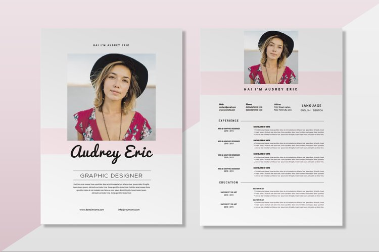 Audrey Simple | CV & Resume example image 1