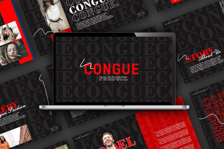 Congue Keynote Template example image 1