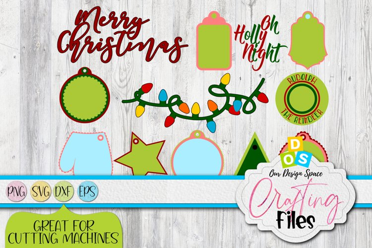 Christmas Wish & Tags SVG, PNG, DXF and EPS example image 1